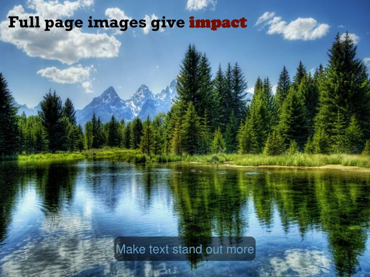 Full page images give