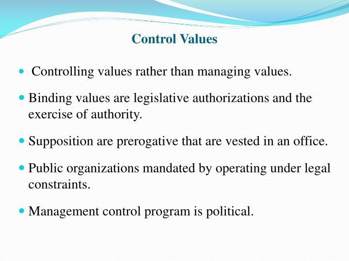 Control Values