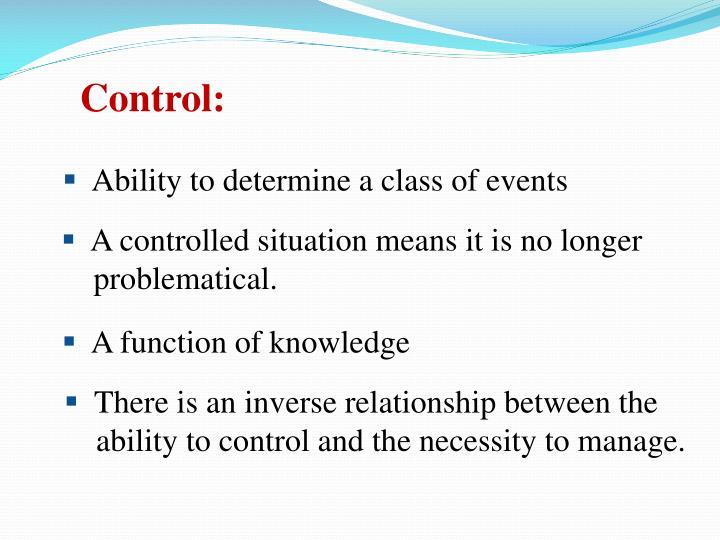 Control: