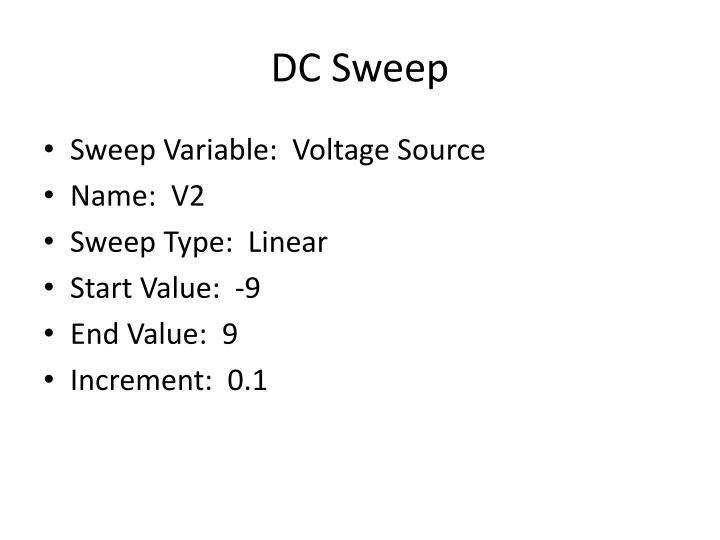DC Sweep
