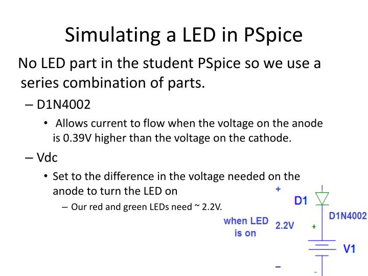 Simulating a LED in PSpice