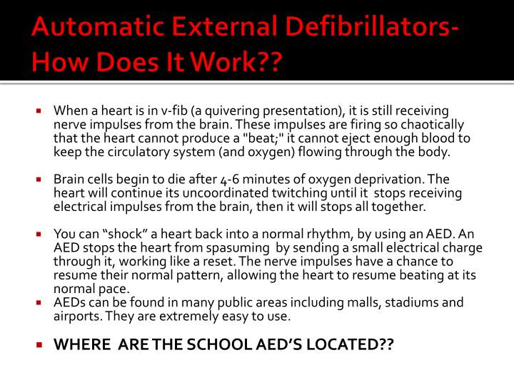 Automatic External Defibrillators- How Does It Work??