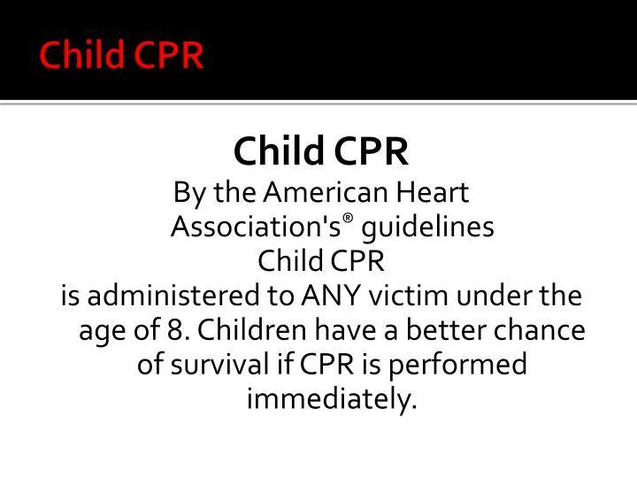 Child CPR