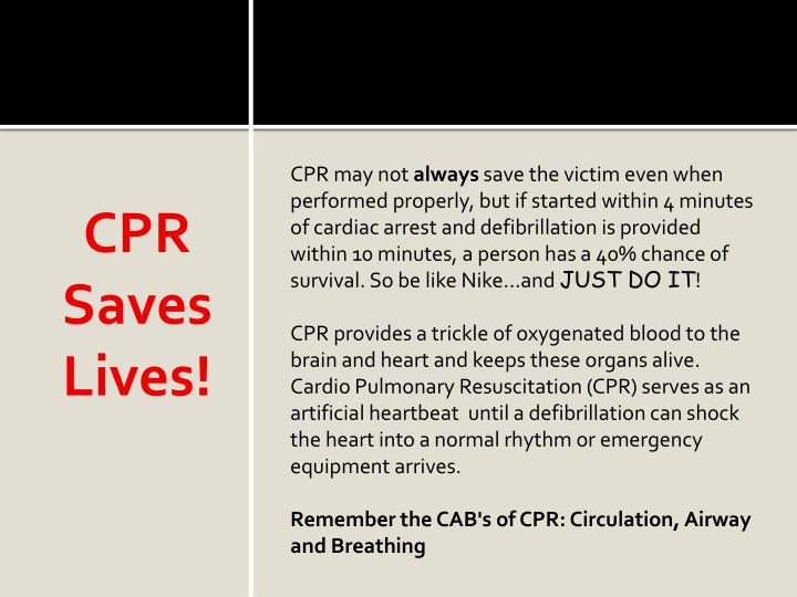 CPR Saves Lives!