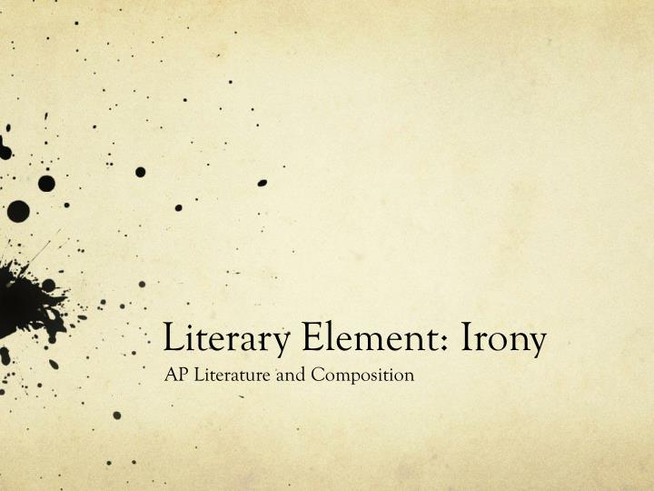 Literary element irony