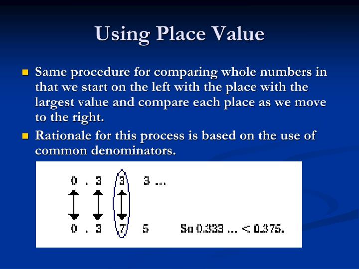 Using Place Value