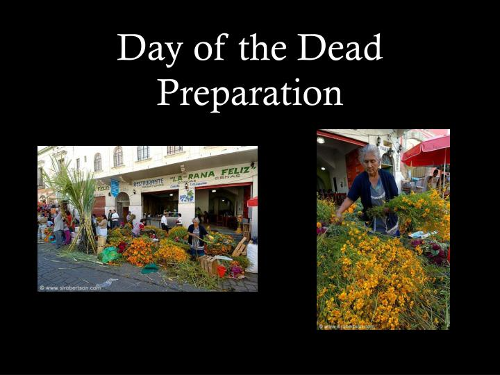 Day of the dead preparation