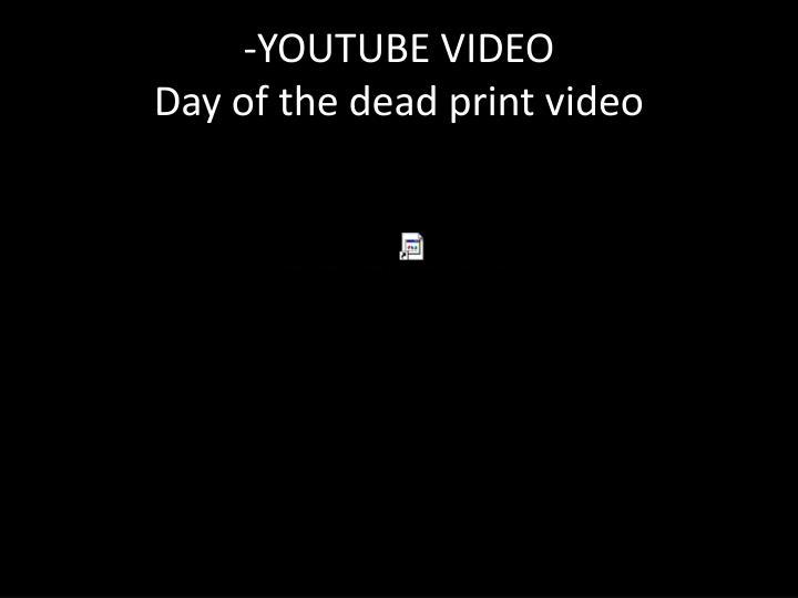 -YOUTUBE VIDEO