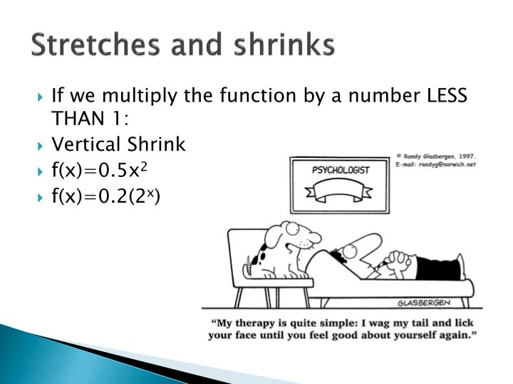 Stretches and shrinks