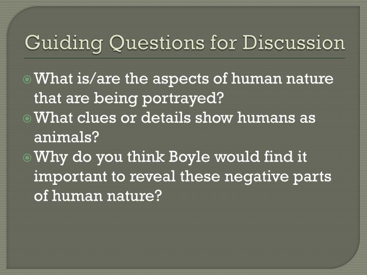 Guiding Questions for Discussion