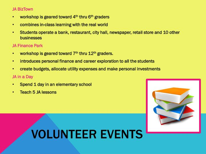 Volunteer events
