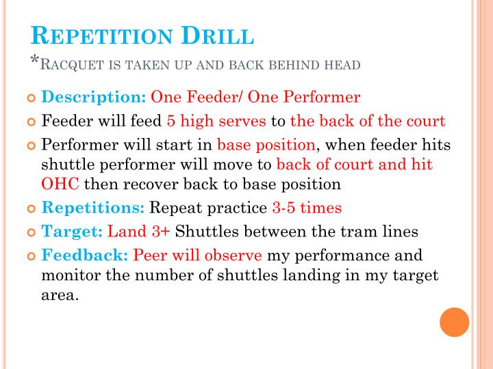 Repetition Drill