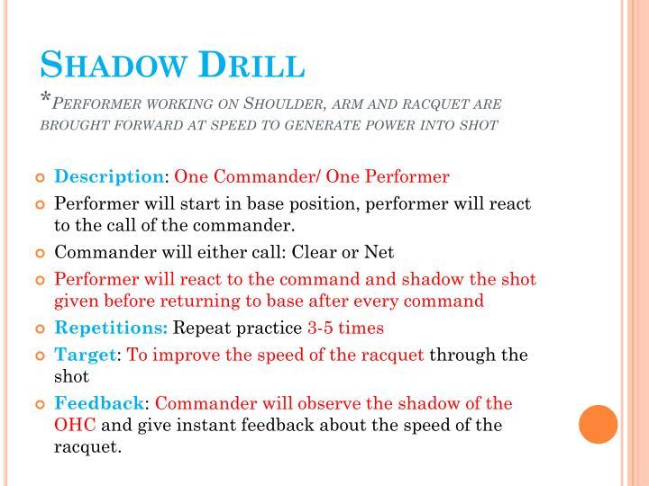 Shadow Drill