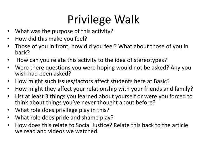 Privilege Walk