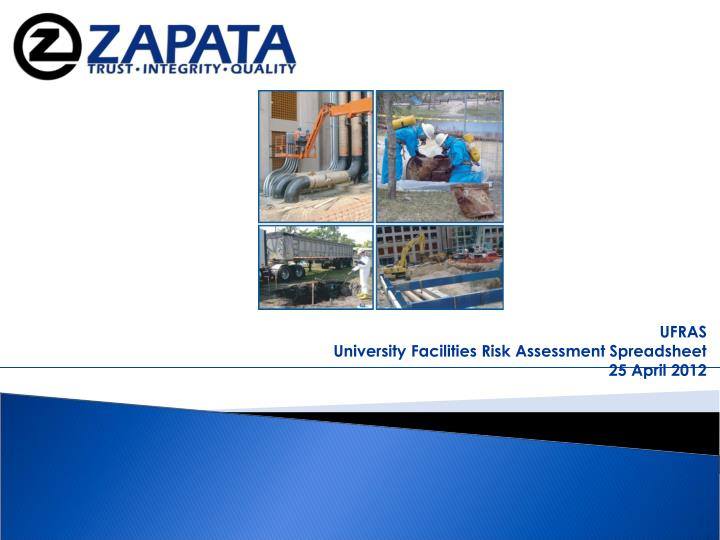 Ufras university facilities risk assessment spreadsheet 25 april 2012