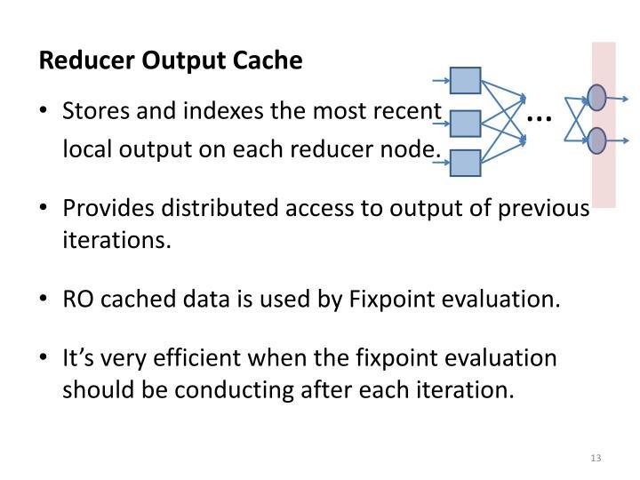 Reducer Output Cache