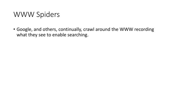 WWW Spiders