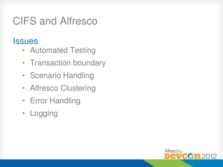 CIFS and Alfresco