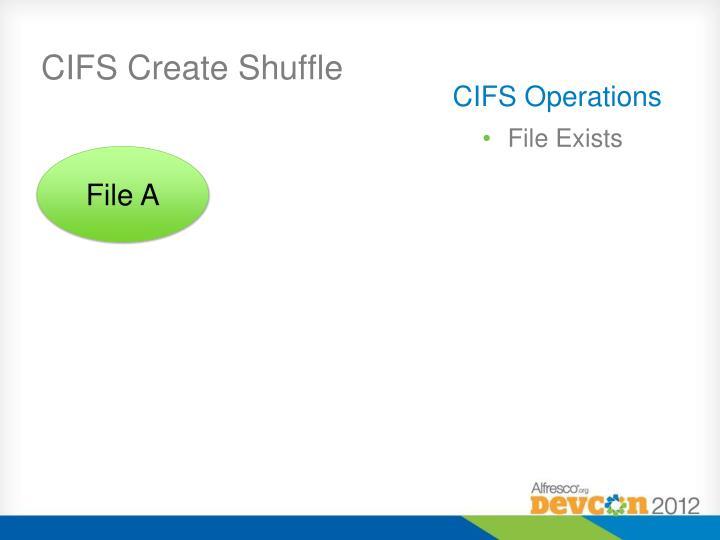 CIFS Create Shuffle