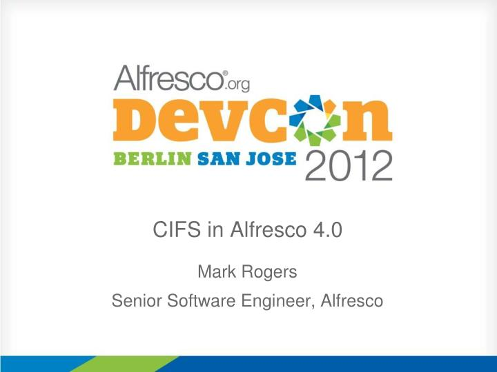 Cifs in alfresco 4 0