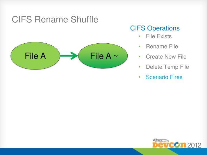 CIFS Rename Shuffle