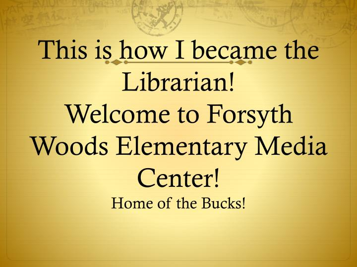 This is how I became the Librarian!