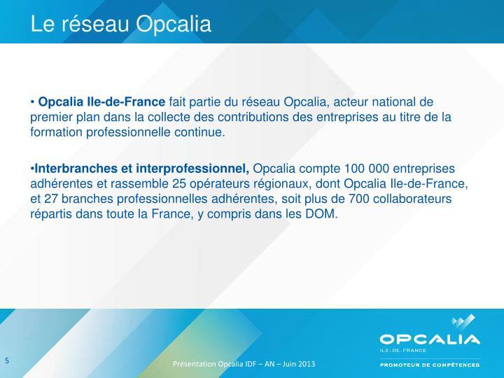 Le réseau Opcalia