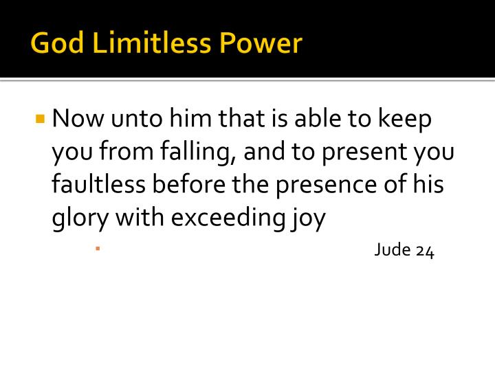 God Limitless Power