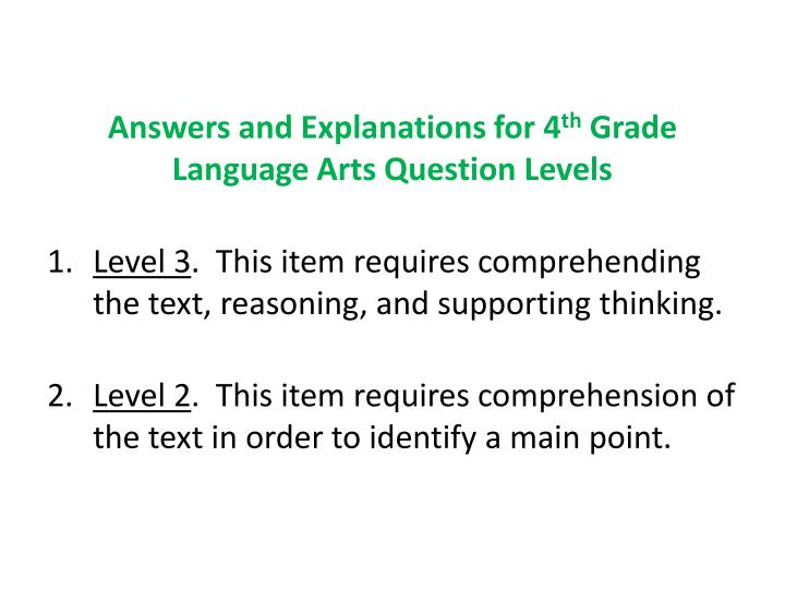 Answers and Explanations for 4