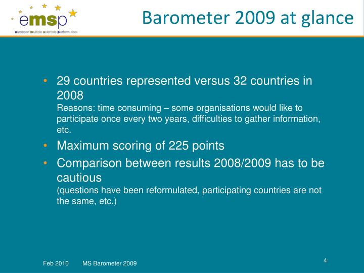 Barometer 2009 at glance