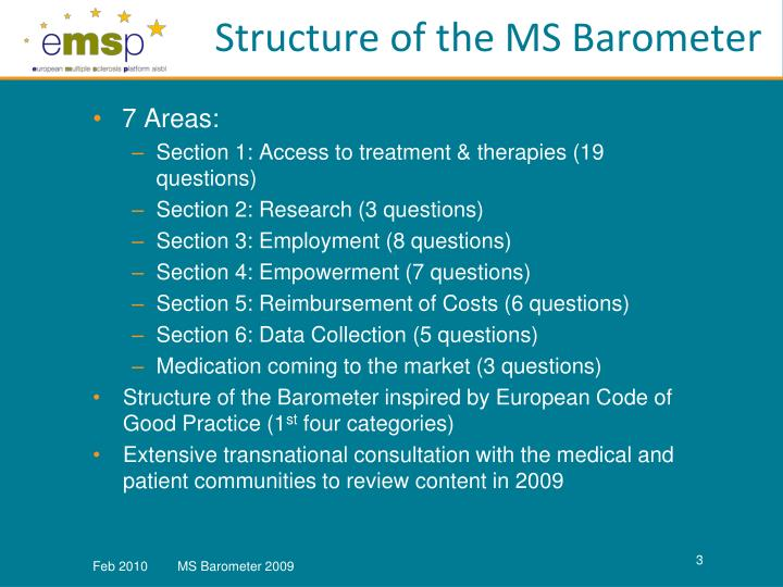 Structure of the MS Barometer