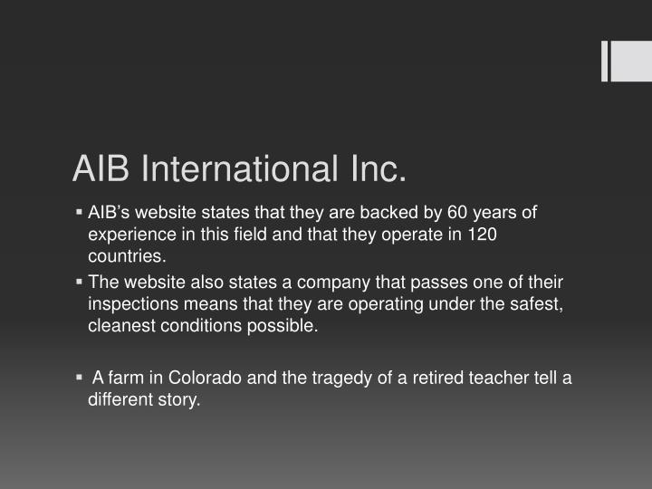 AIB International Inc.