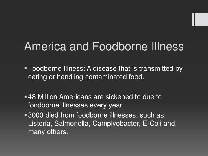 America and Foodborne Illness
