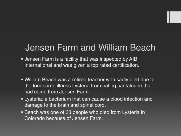 Jensen Farm and William Beach