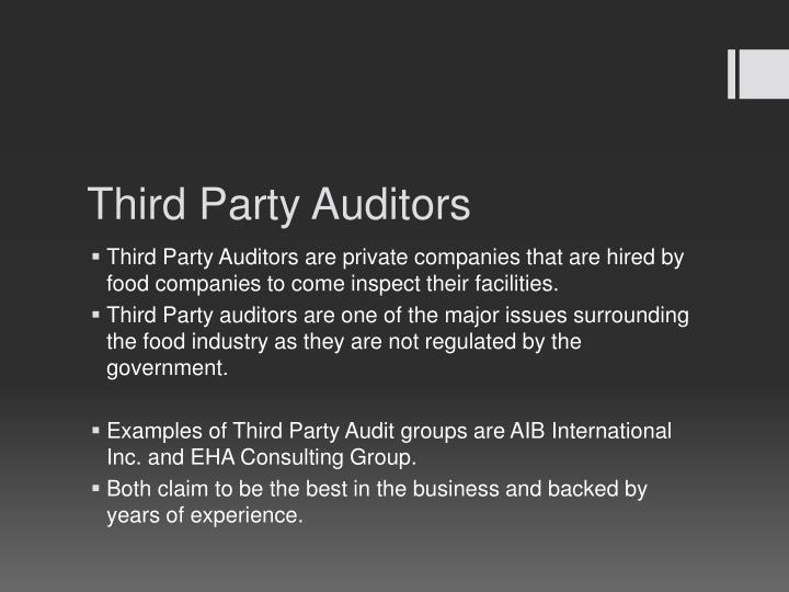 Third Party Auditors