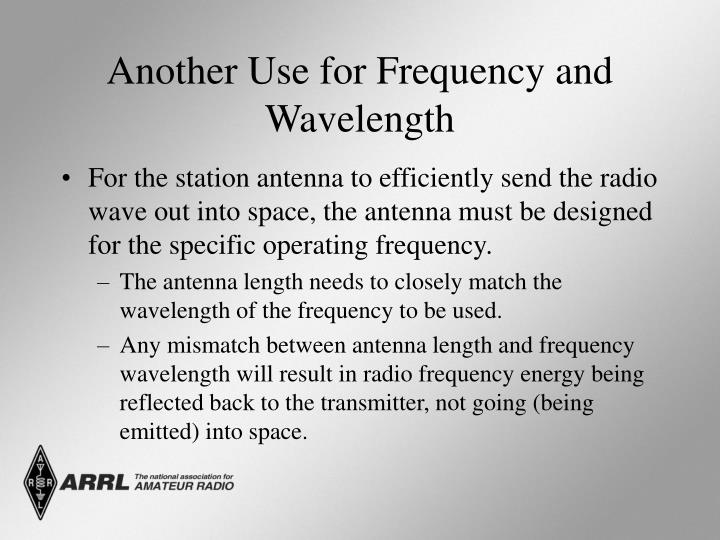 Another Use for Frequency and Wavelength