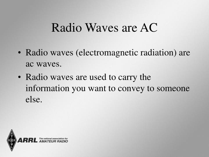 Radio Waves are AC