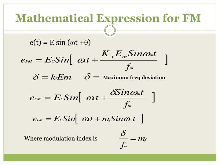 Mathematical Expression for FM