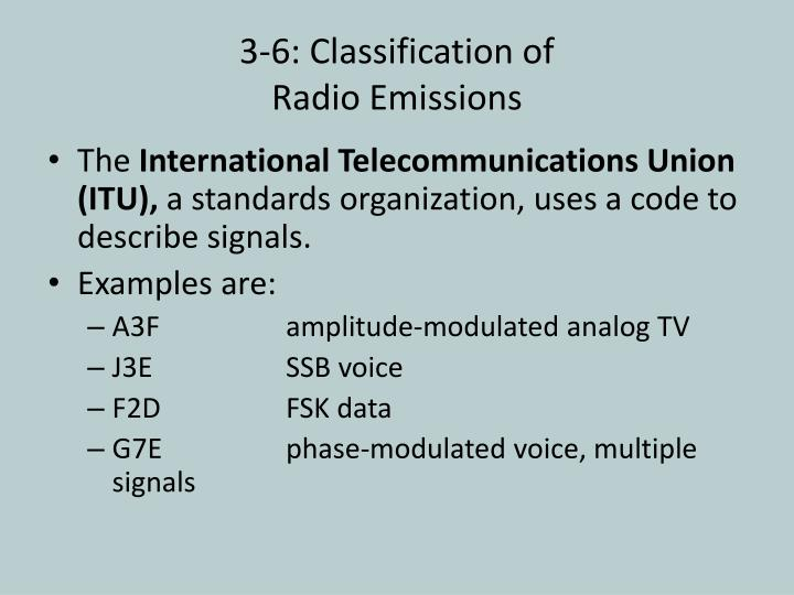 3-6: Classification of