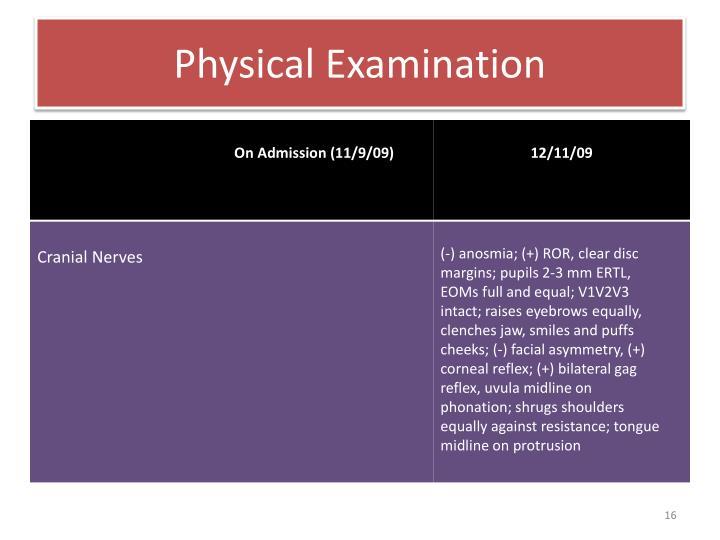 Physical Examination