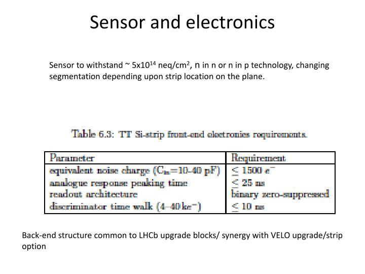 Sensor and electronics