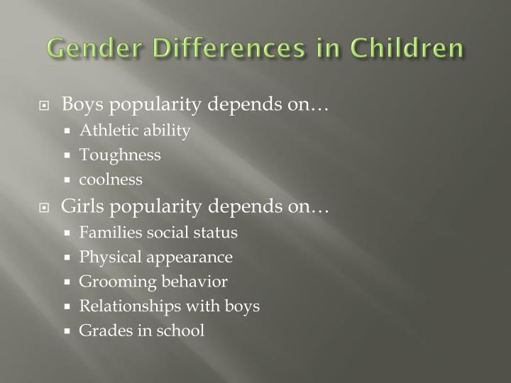Gender Differences in Children