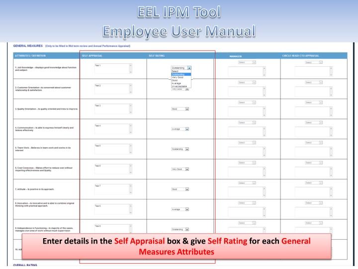 EEL IPM Tool