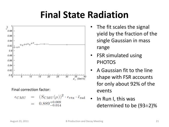 Final State Radiation
