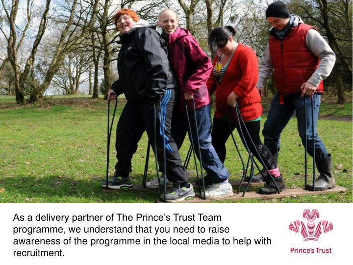 As a delivery partner of The Prince's Trust Team programme, we understand that you need to raise a...