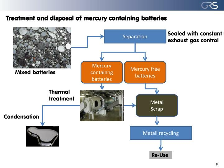 Treatment and disposal of mercury containing