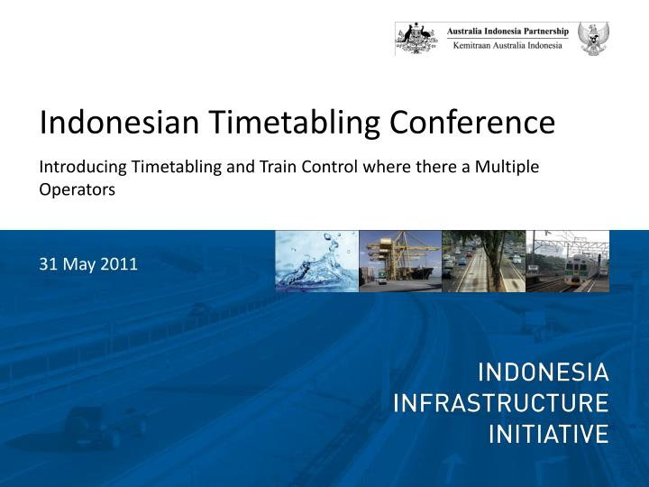 Indonesian Timetabling Conference