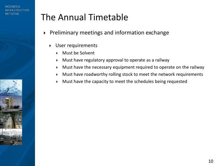 The Annual Timetable