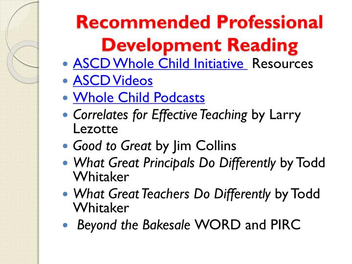 Recommended Professional Development Reading