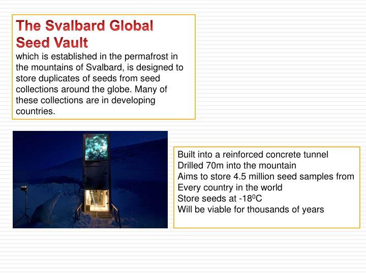 The Svalbard Global Seed
